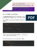 Javascript Tome III - Classes