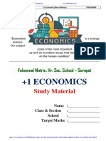 11th Economics Full Study Material English Medium