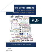 A Guide to Better Teaching Resumo