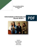 Enfermedades Profesionales Incluidas en El Decreto 49 2014 Gonzalez Romero
