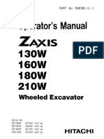 Hitachi ZAXIS 160W Wheeled Excavator operator's manual SN 002001 and up.pdf