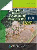 Luas Lahan Menurut Penggunaannya Provinsi Banten 2017