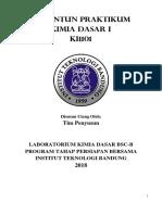 Revisi 04092018 Modul Praktikum Kimia Dasar IA 2018
