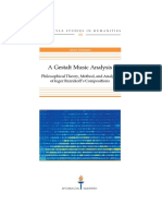 A Gestalt Music Analysis