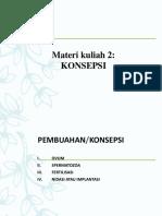 Materi Kuliah 2 - Konsepsi