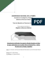 Actualización Del Modelo Conceptual y Modelo Numérico de Flujo