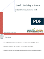 GIM Institute Level 1 Training 2015 - IXL Innovation Olympics - Part 2 (1)