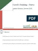 GIM Institute Level 1 Training 2015 - IXL Innovation Olympics - Part 2 (1)