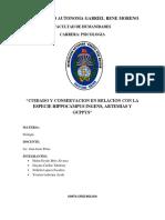 """""""Cuidado y Conservacion en Relacion Con La Especie Hippocampus Ingens, Artemias"""