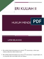 Materi Kuliah 2-HUKUM MENDEL
