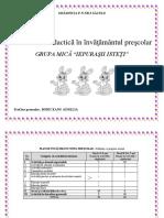Proiectarea Didactica in Inv. Prescolar Gr. Mica
