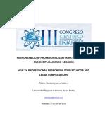 Responsabilidad sanitaria en el Ecuador