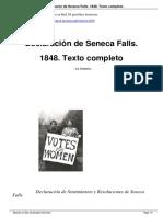 Declaración de Seneca Falls. Publicado en Mujeres en Red. El periódico feminista