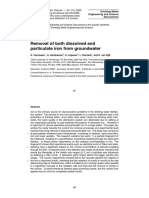 Removal of both dissolved and particulate iron from groundwater