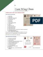 Curriculum Gary Lam Wing Chun