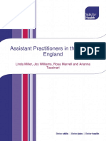 Assistant Practitioners in England Report 2015