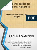 Operaciones Básicas Con Expresiones Algebraica