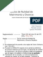 Juicios de Nulidad de Matrimonio y Divorcio