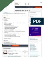 CompuTrabajo Perú - Trabajos - Especialista en Administracion de Empresas