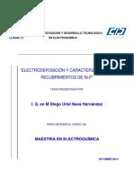 Electrodeposición y Caracterización Derecubrimientos de Ni-P