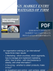 Foreign Market Entry Strategies of Firm
