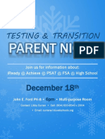Testing & Transition Parent Night Flyer 2018