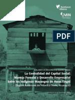 Manejo Forestal y Desarrollo Empresarial Entre Los Indígenas Mayangna de Awas Tingni (Región Autónoma Del Atlántico Norte, Nicaragua)