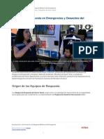 Equipos de Respuesta en Emergencias y Desastres Del Sector Salud