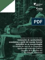 Generación de Oportunidades Económicas a Partir Del Manejo Forestal Sostenible en Un Área Protegida - R Alliance