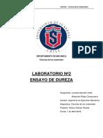 Informe Dureza Ciencia de Los Materiales uls