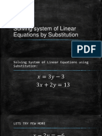 solving system of linear equations by substitution