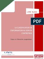 LMPS AUSIM Livre Blanc Classification Des Données
