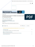 Combined Measurement of Multiple Acute Phase Reactants to Predict Relapse of Rheumatoid Arthritis