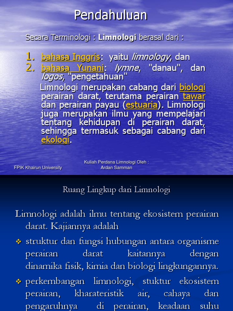 Limnologi