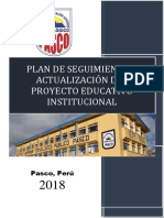 Plan de Actualizacion Del Proyecto Educativo Institucional 2018