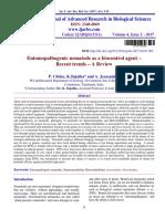 Chitra Et Al 2017; Entomopathogenic Nematode as a Biocontrol Agent-Recent Trends- A Review