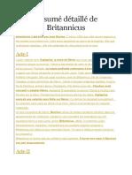 Résumé Détaillé de Britannicus