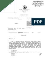 Apelanio vs. Arcanys, Inc. (full text, Word version)