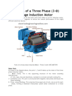 Basic Parts of a Three Phase (3-Փ) Squirrel Cage Induction Motor