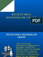 Curs 3 Resurse Umane _recrutarea