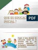 Que es educación  inicial exposicion