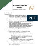 edu 5275 presentation handout  cultural and linguistic diversity