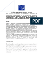 Manual Cooperación Para Asistencia Desastres Países Miembros UNASUR