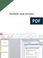Conexión Duw Ericsson