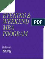 Kellogg Evening Weekend MBA Viewbook