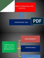 Presentasi Manajemen Operasional
