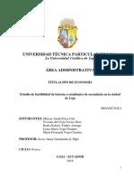 Estudio de Factibilidad en La Ciudad de Loja_utpl