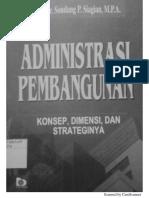 Administrasi Pembangunan