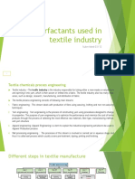 Surfactants Used in Textie Industries