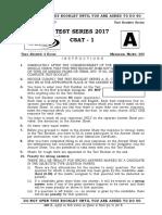 CSAT TEST - 1 (2017)